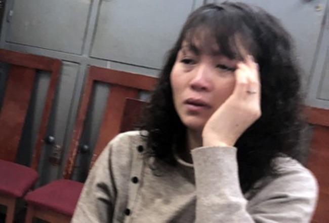 Trần Thị Phương tại cơ quan công an. (Ảnh: Zing)