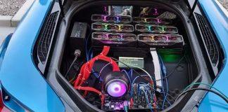 Dàn máy đào ETH trong siêu xe BMW i8.