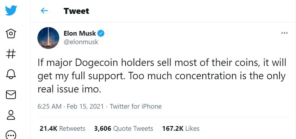 Dòng tweet của Musk thu hút hơn 167.000 lượt yêu thích, hơn 21.000 lượt chia sẻ chỉ sau một ngày. Ảnh: @elonmusk.