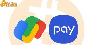 Google Pay, Samsung Pay sắp chấp nhận thanh toán bằng Bitcoin