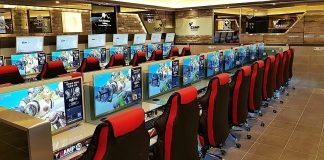 Các quán game ở Hàn Quốc được trang bị cấu hình mạnh, quy mô lên đến hàng trăm dàn máy. Ảnh: Koreaboo.