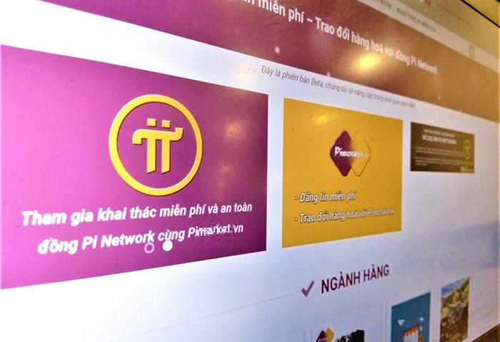 Trang thương mại sử dụng đồng Pi có tên Pi******.vn không có tổ chức pháp lý đứng đằng sau. Ảnh: Chụp màn hình.
