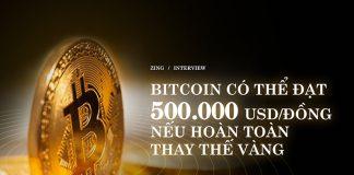 Bitcoin có thể đạt 500.000 USD nếu hoàn toàn thay thế vàng