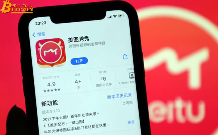 Công ty sở hữu ứng dụng chỉnh sửa ảnh Meitu mua 40 triệu USD Bitcoin và ETH