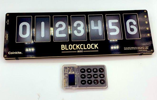 Mẫu đồng hồ BlockClock mini của Coinkite