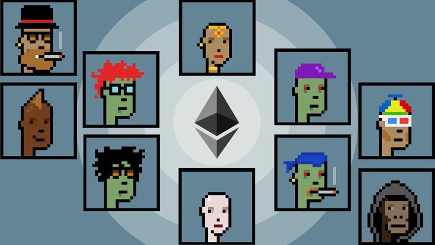 CryptoPunk gồm 10.000 avatar độ phân giải 24 x 24 pixel được bán dưới dạng NFT. Bức ảnh số 7.804 và 3.100 được trả giá đến 7,5 triệu USD. Ảnh: NonFungible.