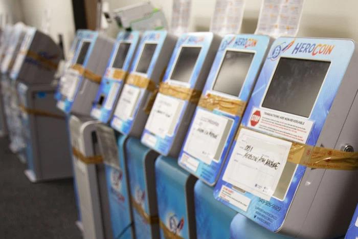 17 máy ATM Bitcoin đã bị tịch thu. (Nguồn: Coindesk)