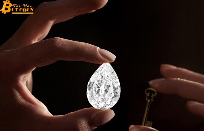 Đấu giá viên kim cương 101 carat bằng Bitcoin