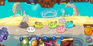 Giao diện game Axie Infinity.