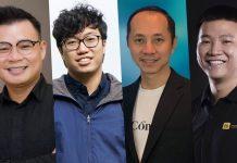 Bốn diễn giả trong CTO Talks bàn về cơ hội và rủi ro khi đầu tư tiền số, NFT. Từ trái qua phải: ông Đinh Viết Hùng, ông Nguyễn Thành Trung, ông Phạm Toàn Thắng, ông Nguyễn Thế Vinh.