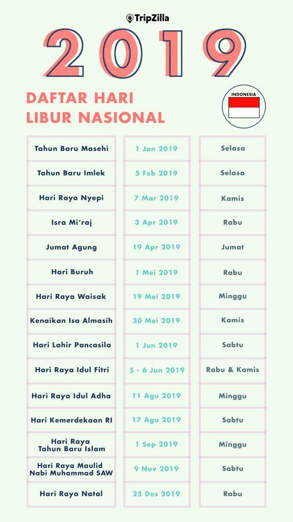Kalender Libur Nasional 2019 Indonesia Cara Memaksimalkan Cutimu