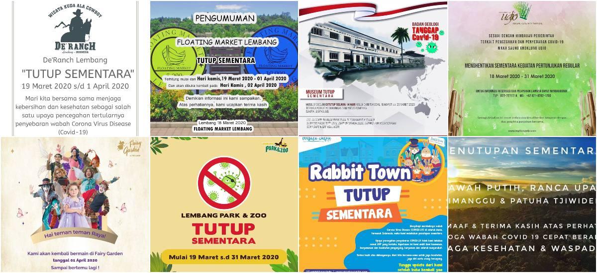 Tempat Wisata Bandung Yang Ditutup Akibat Wabah Virus Corona
