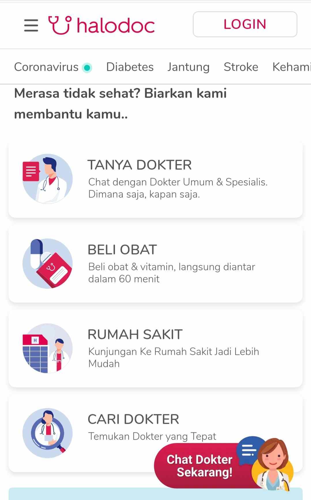 aplikasi konsultasi dokter online