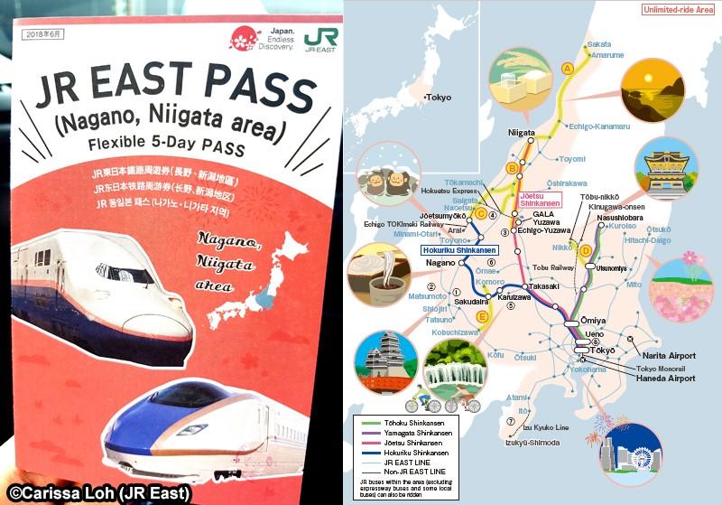 JR EAST PASS (Nagano, Niigata area)