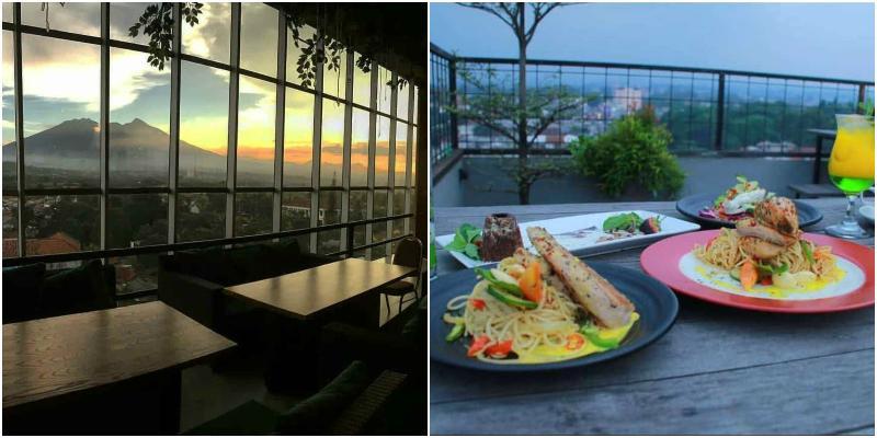Tre Monti Sky Lounge | kafe bogor view gunung