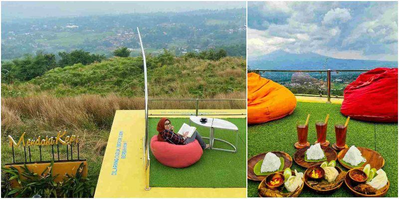 Mendaki Kopi Café | kafe bogor view gunung