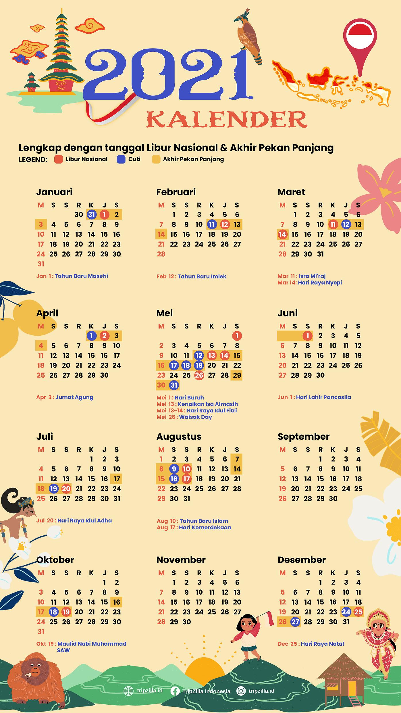 Catat, Inilah Jadwal Lengkap Libur Nasional Dan Cuti