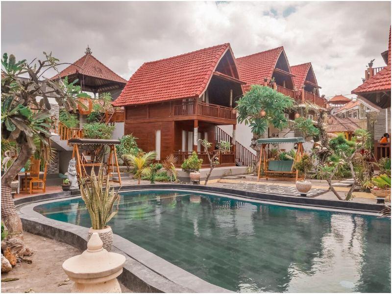 airbnb di Bali dengan pemandangan laut