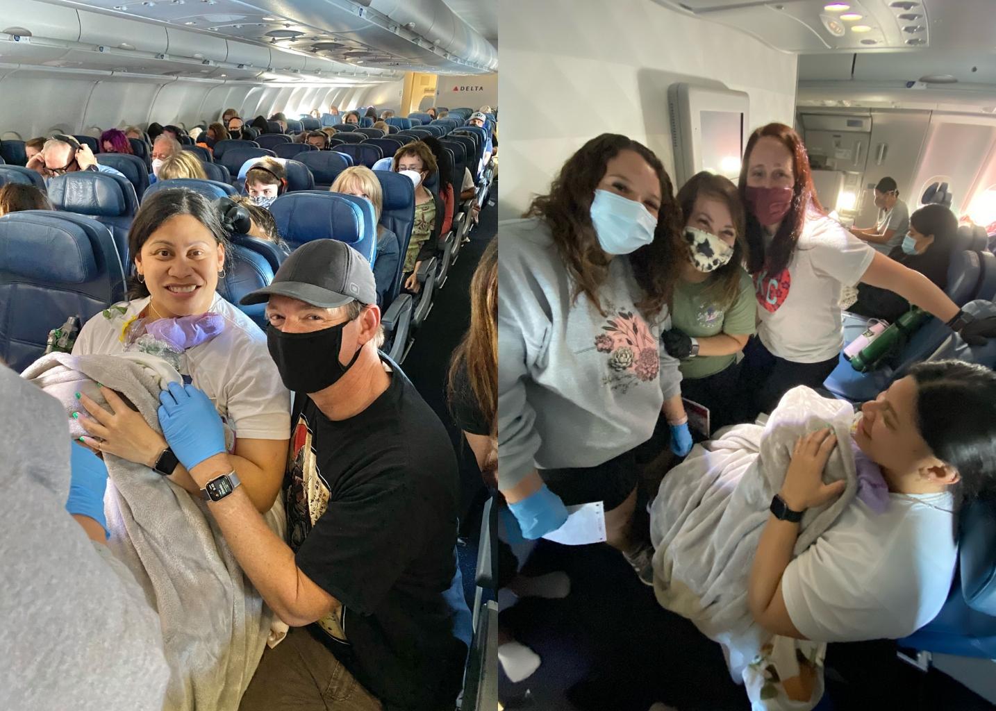 Melahirkan Bayi di Pesawat