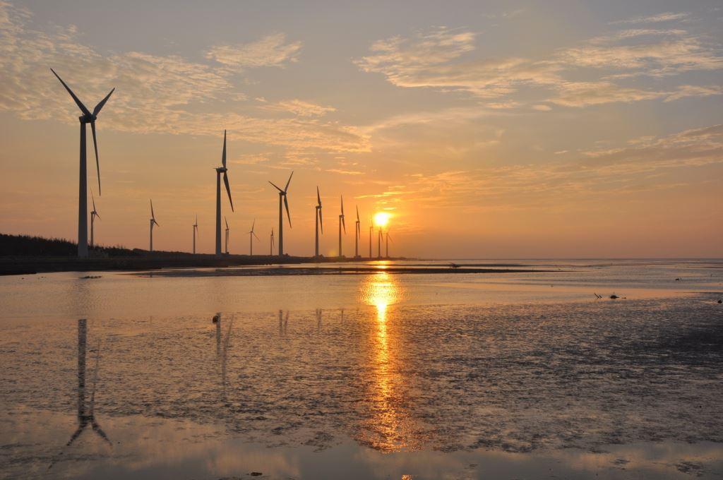 高美湿地-夕阳