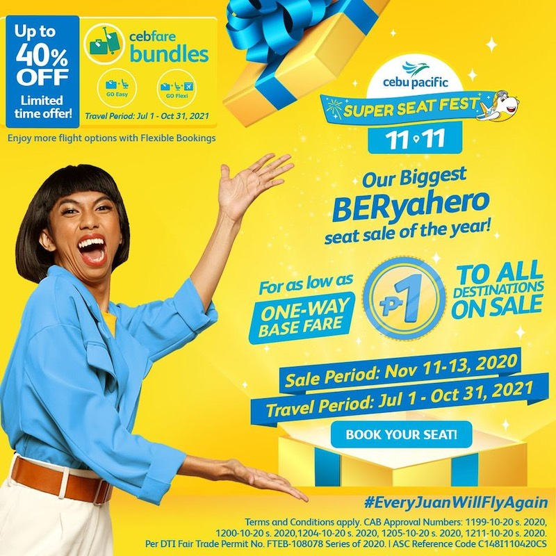 Cebu Pacific 11.11 Super Seat Fest