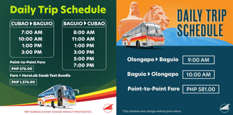 travelling to baguio during covid 19 schedule victory liner