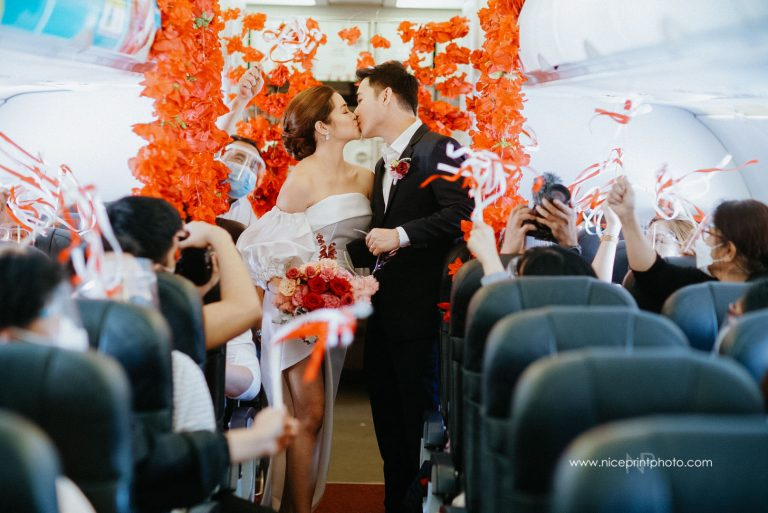 flight attendants wedding