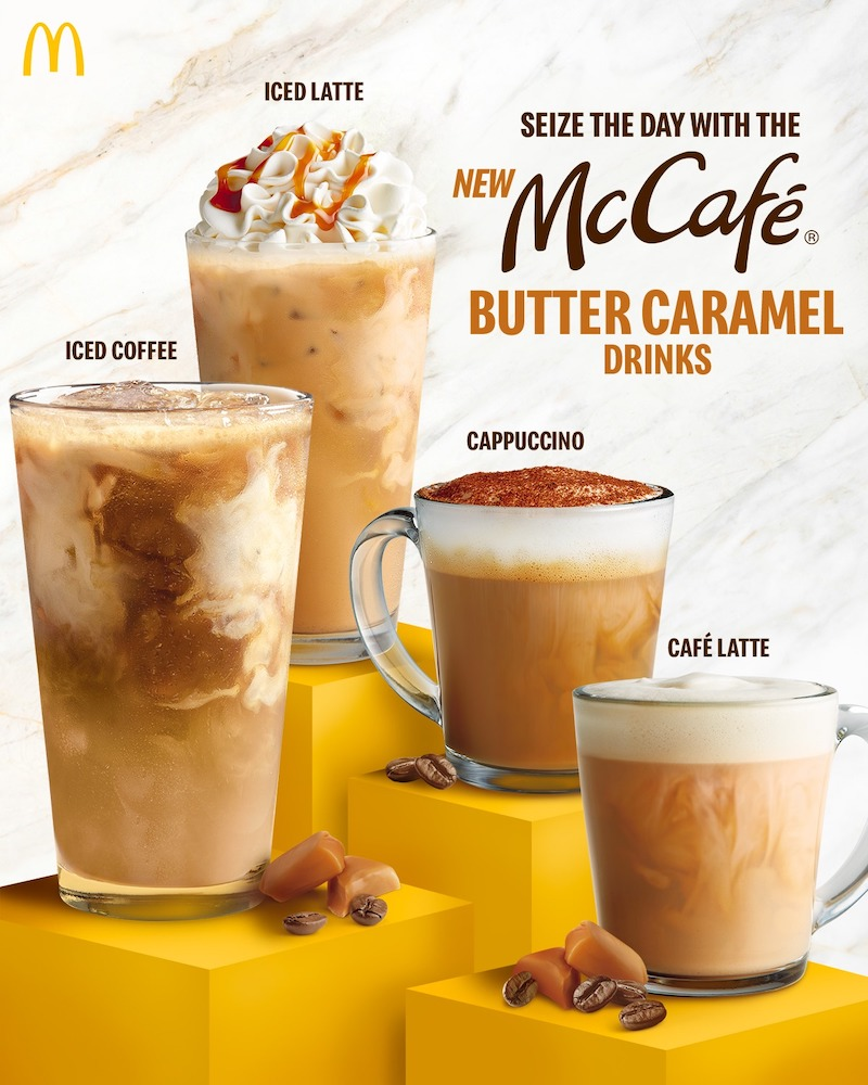McDonald's Philippines Releases New Butter Caramel Coffee Drinks