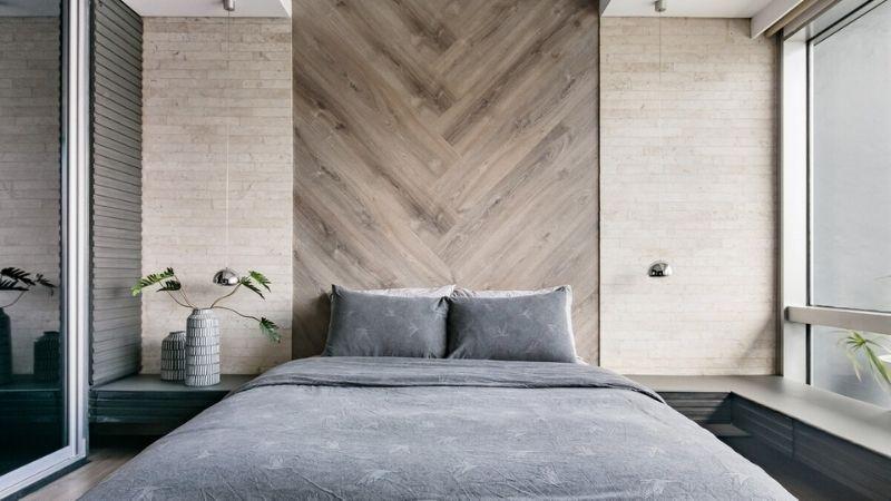 bedroom in sleek bgc airbnb