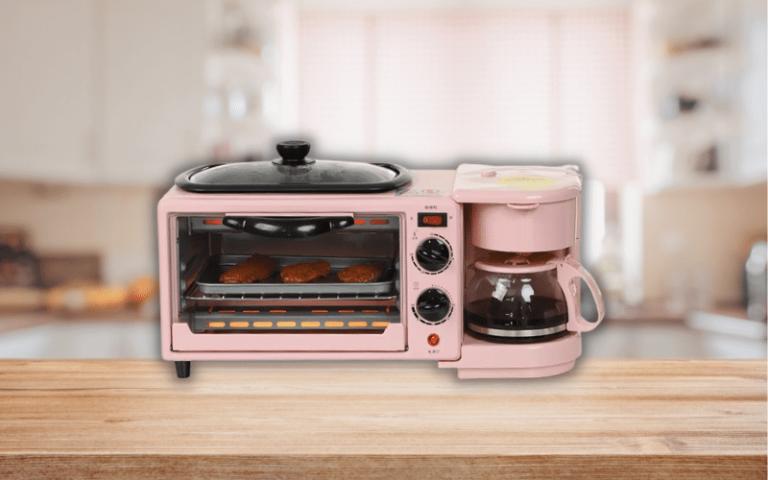 Pastel kitchen appliances breakfast machine