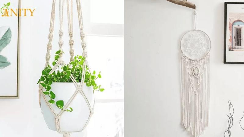 aesthetic items: macrame hangings