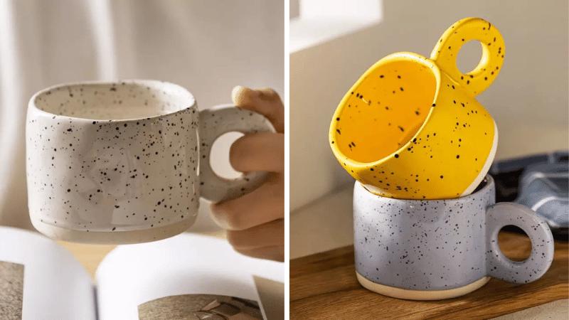 aesthetic items: cute ceramic mugs