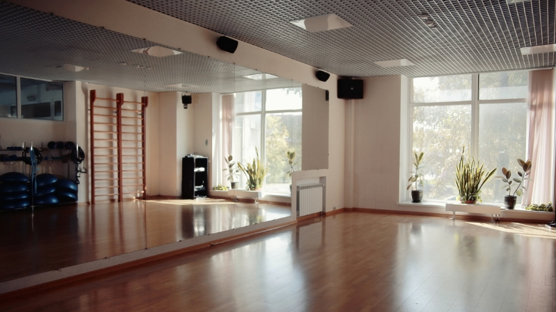 spacious gym