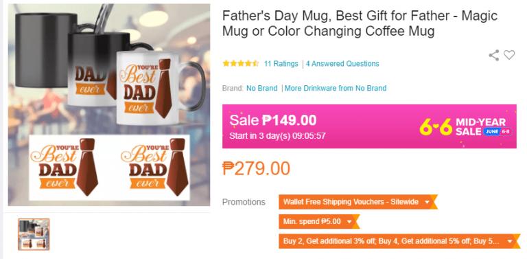Fathers Day Gift Ideas mug
