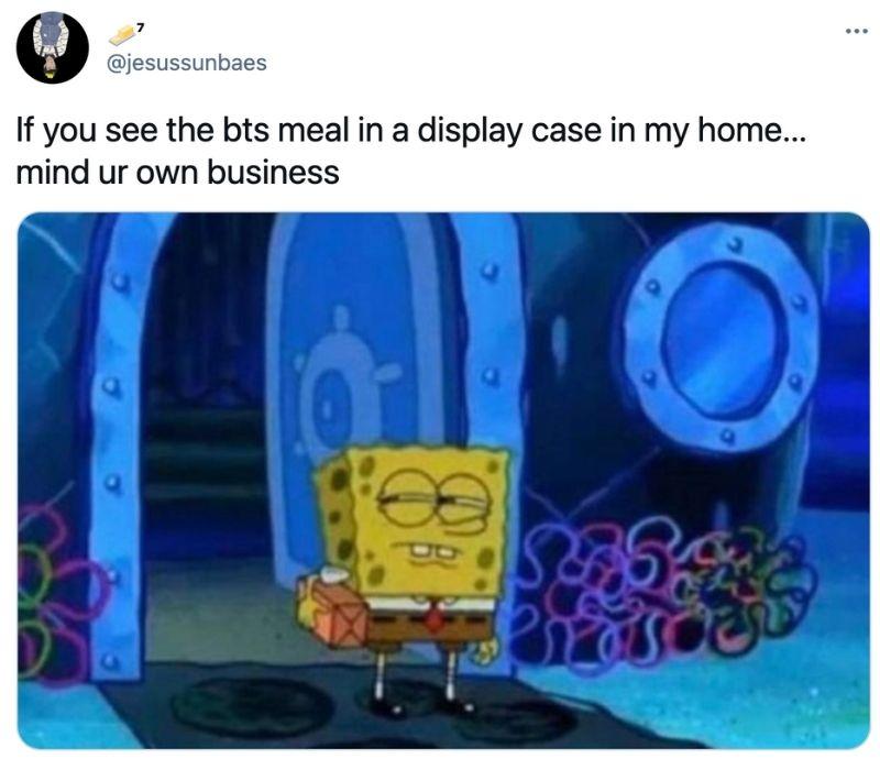 bts meal packaging funny tweet