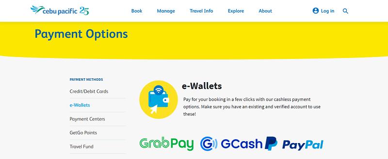 Cebu Pacific Payment Options