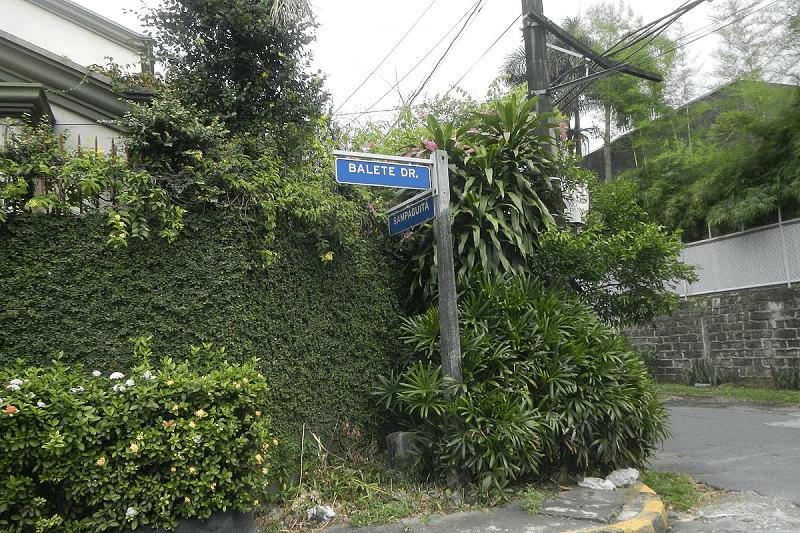 Balete Drive corner Sampaguita