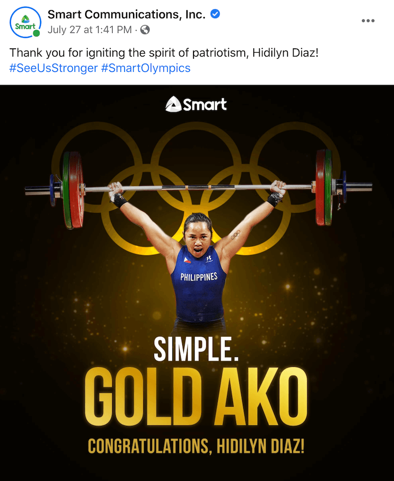 Filipino Brands Celebrate Hidilyn Diaz for Winning the Olympic Gold
