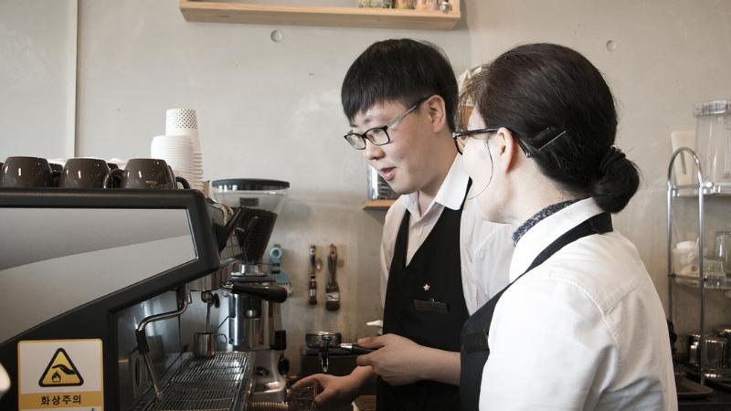 Hisbeans Coffee barista training