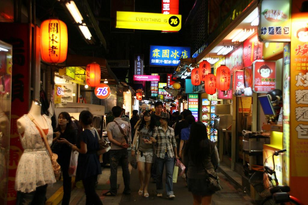 mua sắm ở Đài Bắc chợ đêm shida