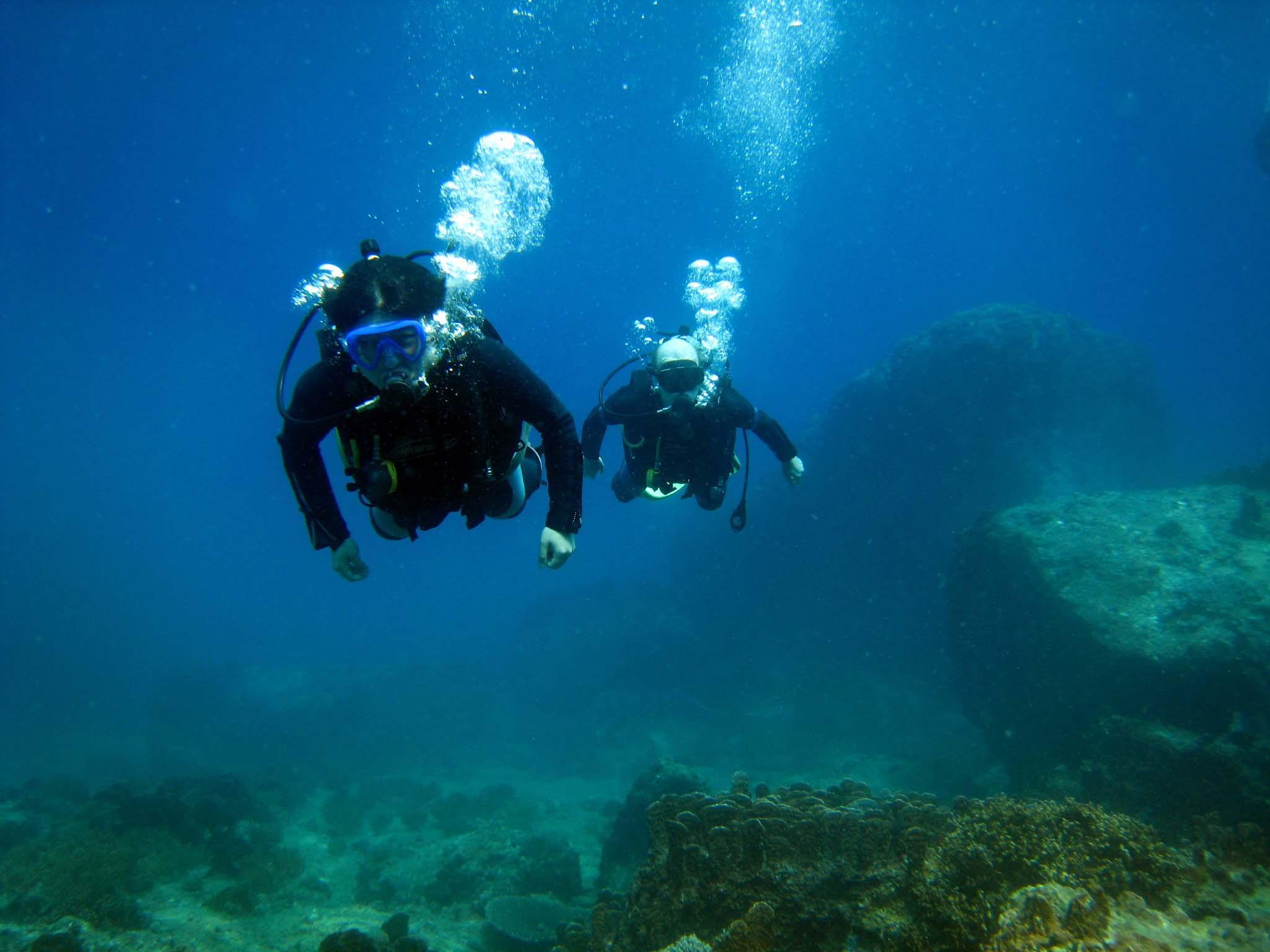 thể thao biển tại Nha Trang, lặn bình dưỡng khí