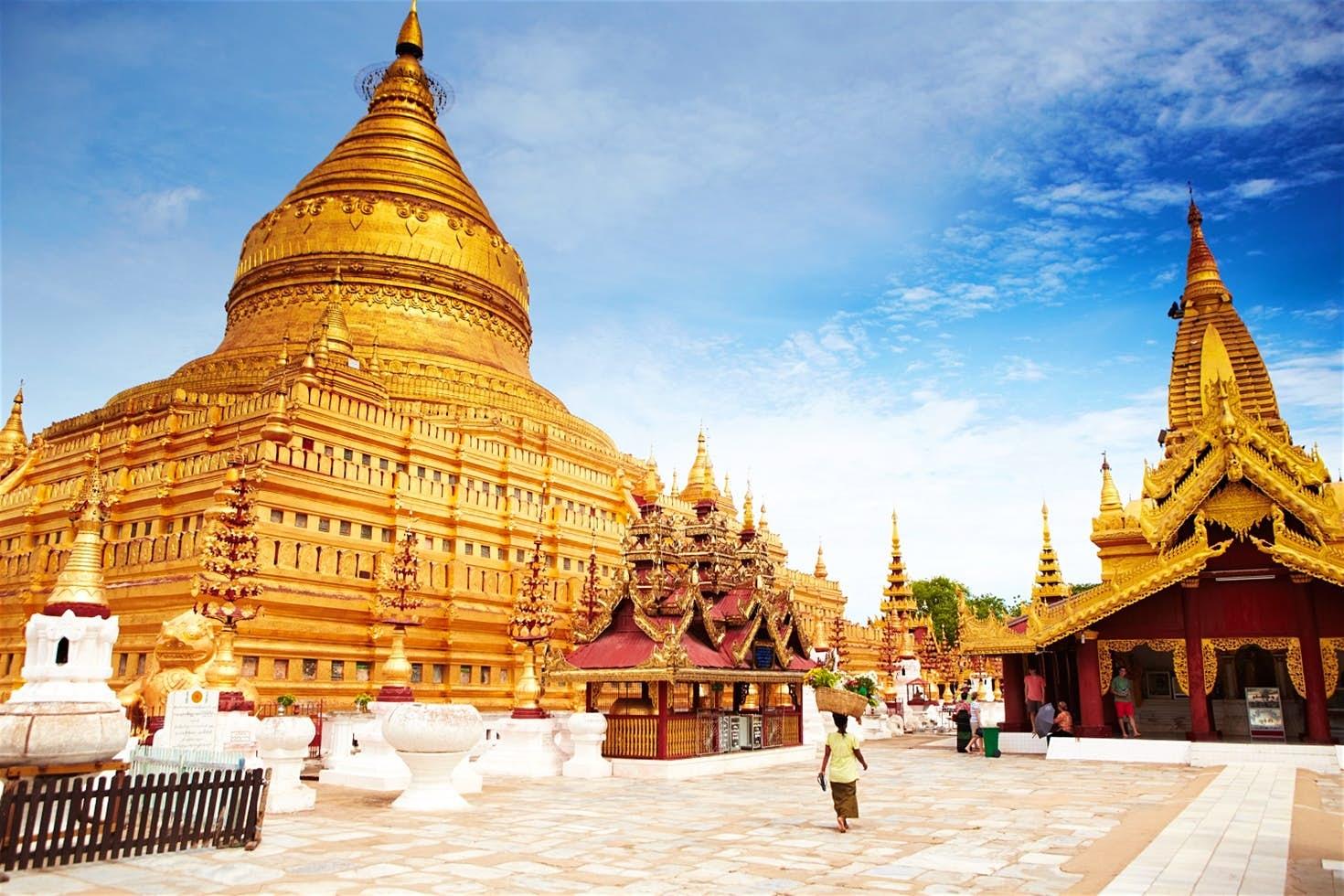 Chơi gì ở Bagan Chùa Shwezigon Paya.