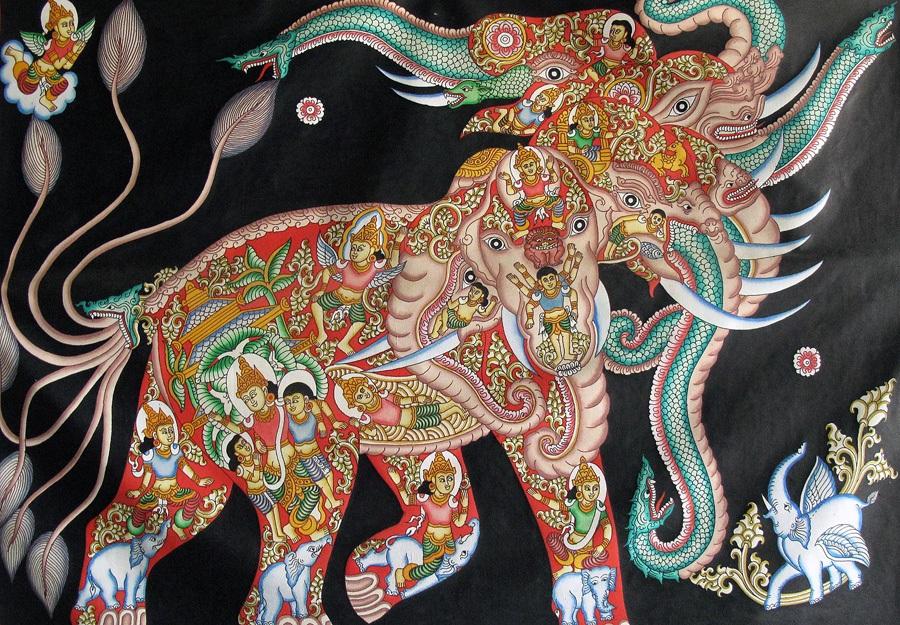 Chơi gì ở Bagan tranh cát hình voi
