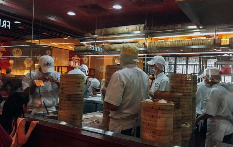 Nhà hàng Din Tai Fung luôn tấp nập thực khách