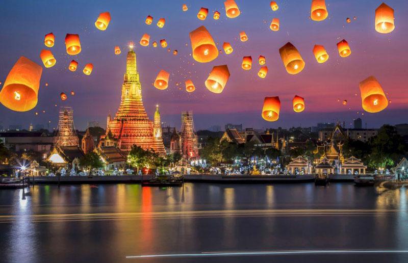 Địa điểm du lịch cho Cung Bạch Dương Thái Lan