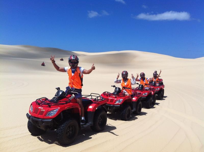 Lich trinh du lich Sydney: Cuộc phiêu lưu trên cồn cát