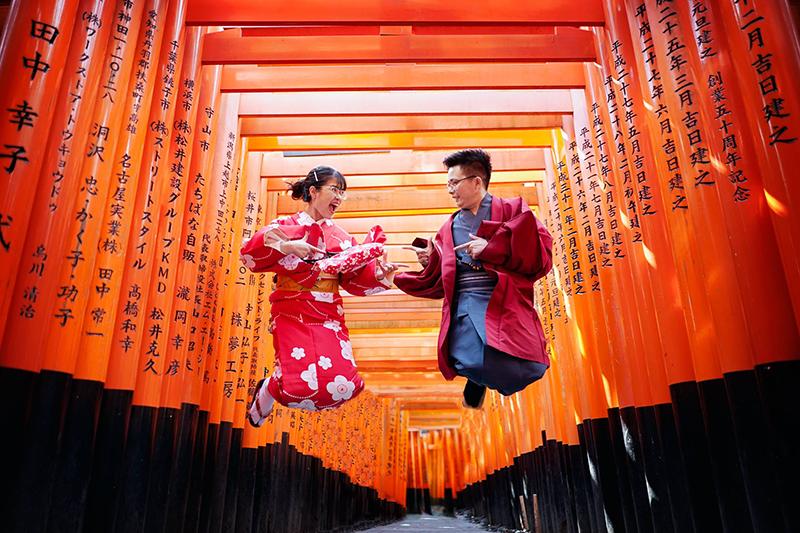 chùa nghìn cổng Fushimi Inari
