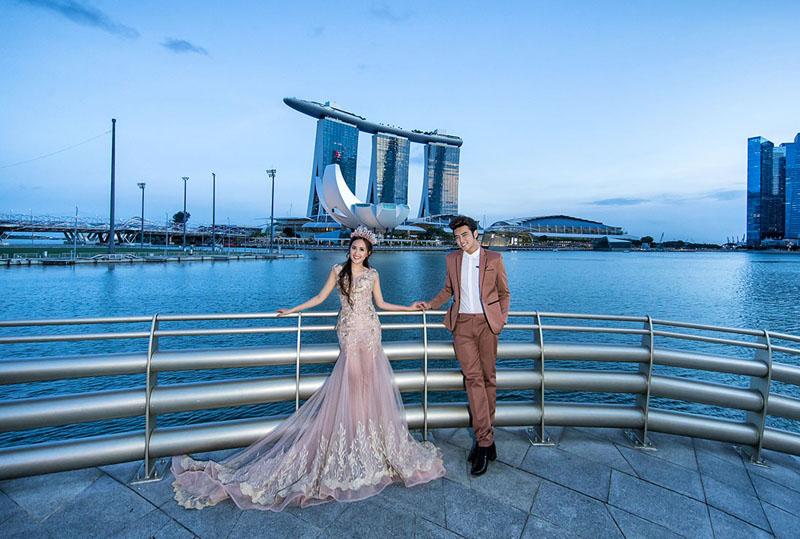 Singapore có nhiều nền văn hóa cũng rất phù hợp chụp ảnh cưới