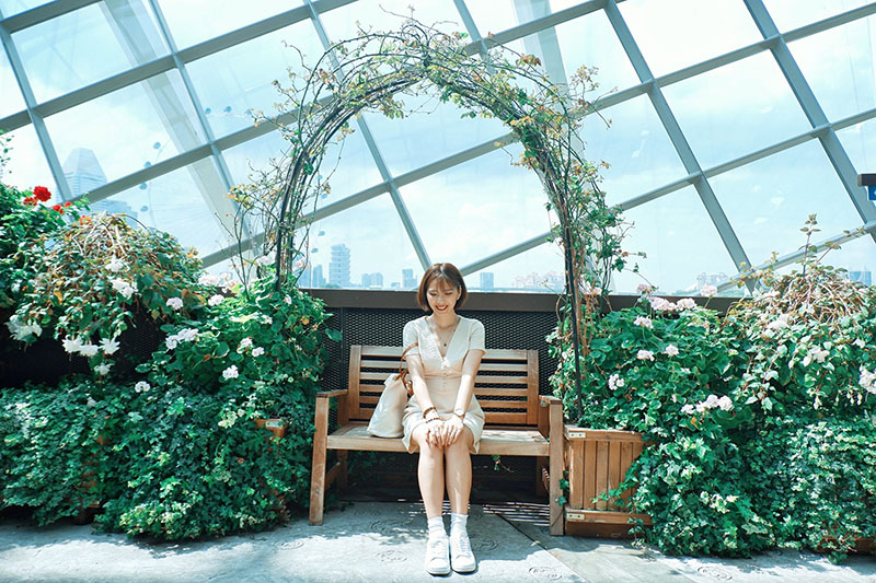 Du lịch tự túc Singapore - Malaysia - Flower Dome