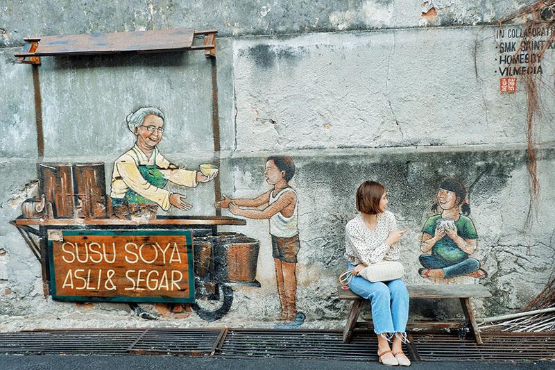 tranh tường Penang